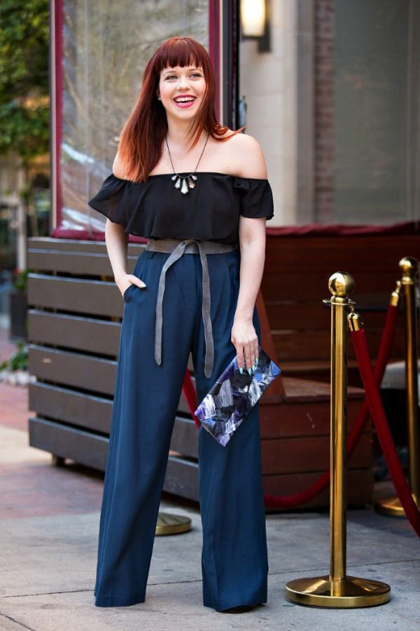 Front Door Fashion Stylist, Kim Wide leg pant evening