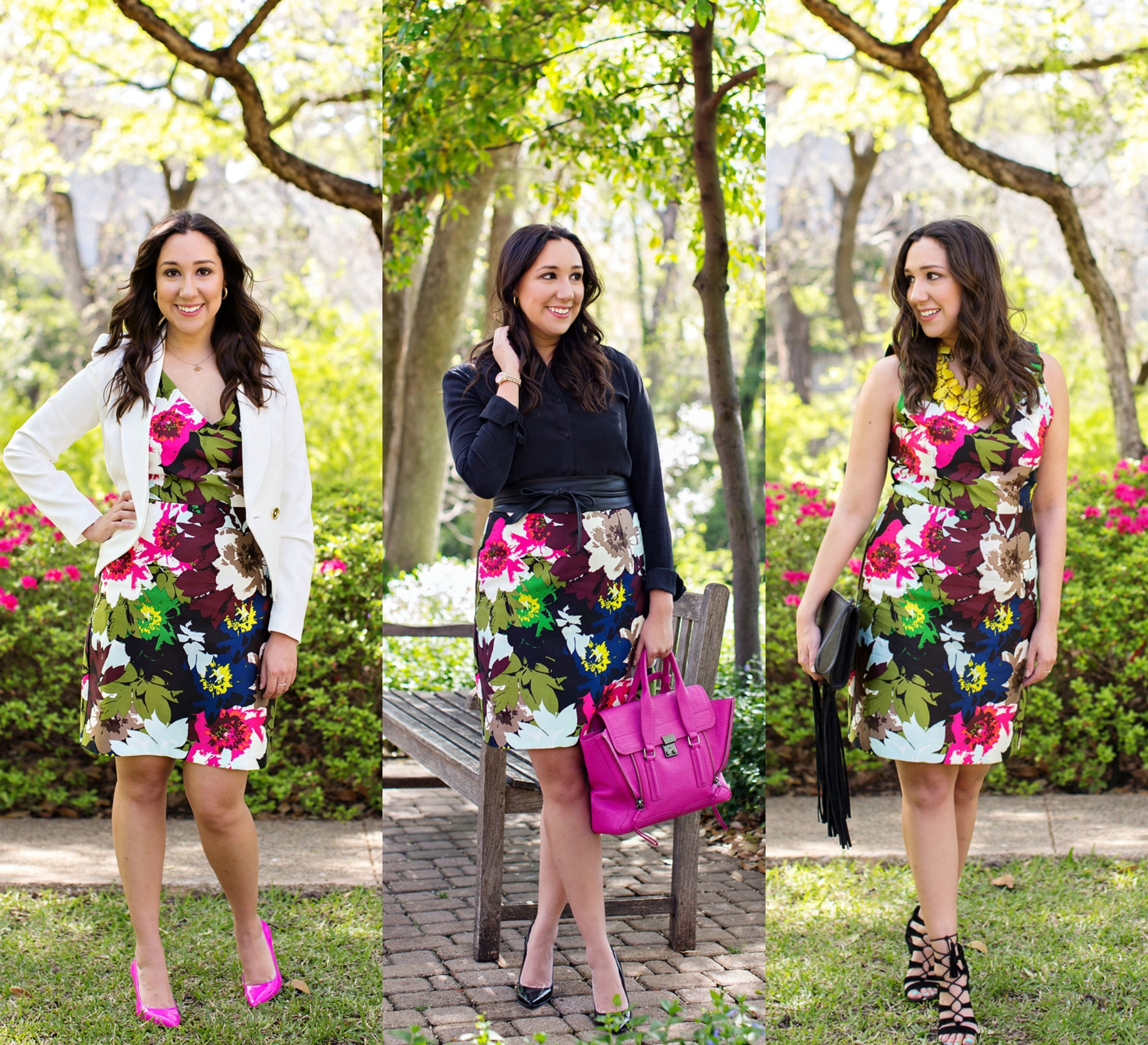 Front Door Fashion style tip - 1 dress 3 looks