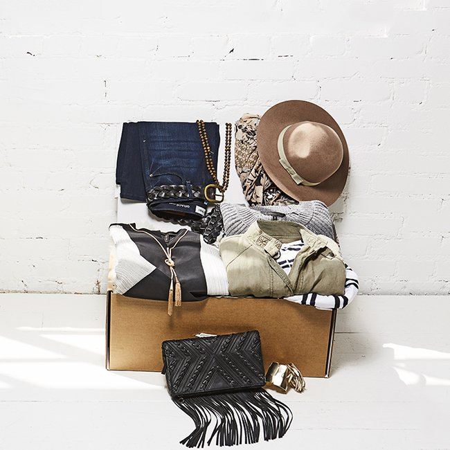 Box will include 4-6 hand selected pieces of clothing, coordinated into wearable outfits by your own fashion stylist.